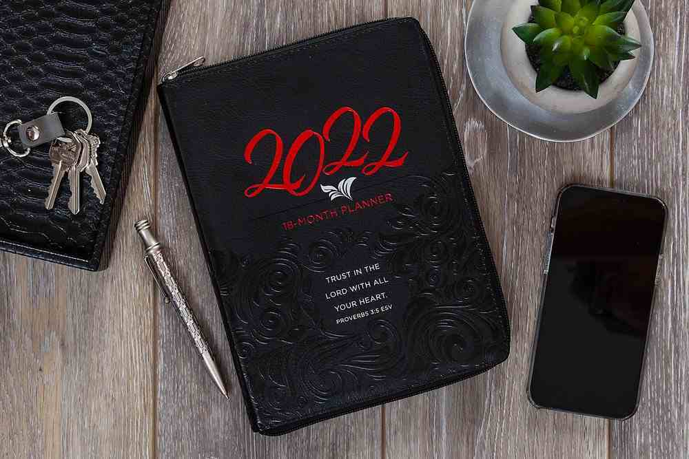 2021-2022 18 Month Diary/Planner: Trust in the Lord Ziparound Imitation Leather