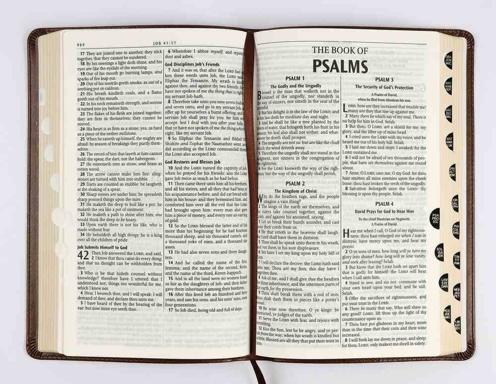 KJV Deluxe Gift Bible Indexed Brown (Red Letter Edition) Imitation Leather