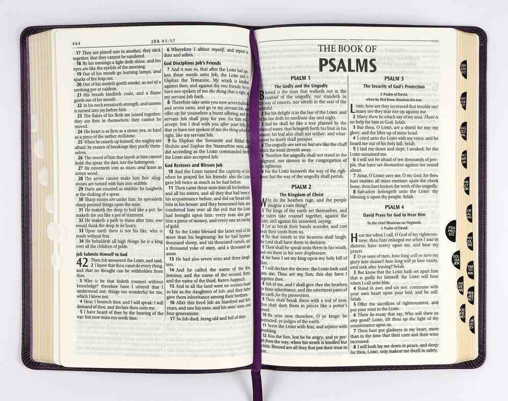 KJV Deluxe Gift Bible Indexed Purple (Red Letter Edition) Imitation Leather