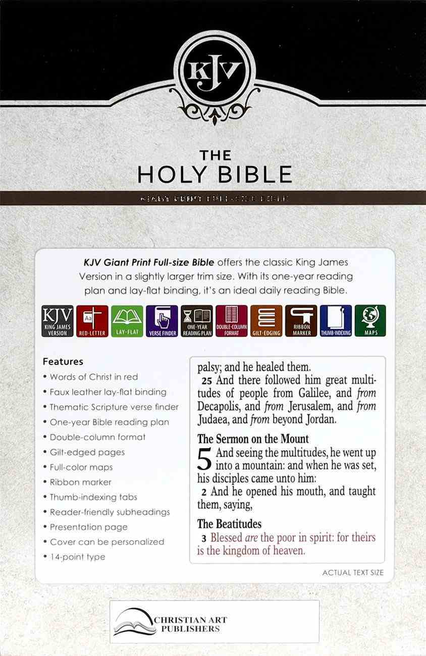 KJV Giant Print Bible Indexed Dark Brown (Red Letter Edition) Imitation Leather