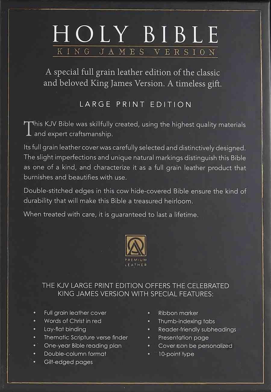 KJV Large Print Thinline Bible Black Genuine Leather