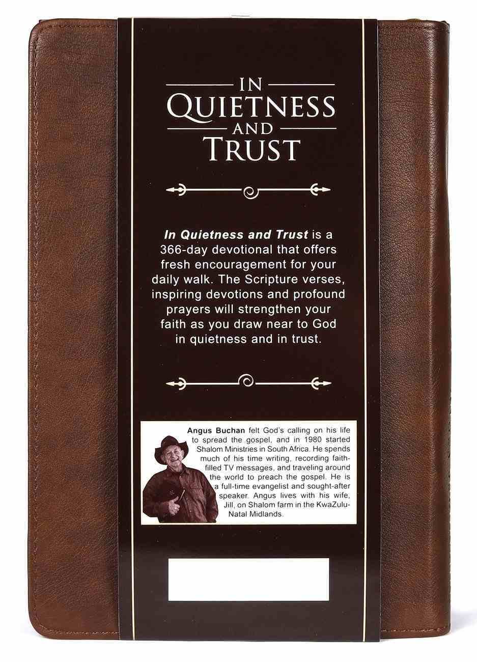 In Quietness and Trust (Brown) Imitation Leather