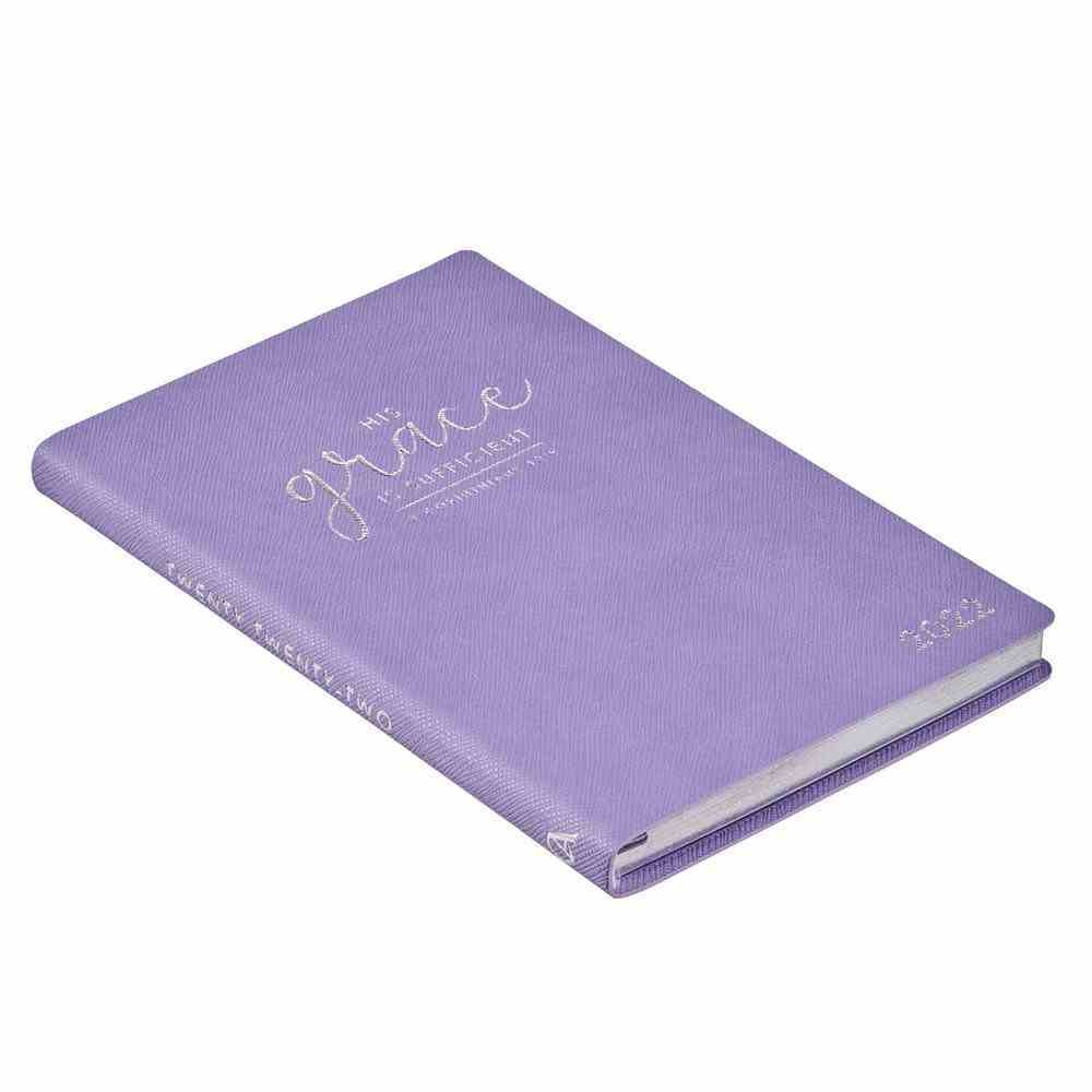 2022 12-Month Diary/Planner: His Grace is Sufficient (2 Cor 12:9) Imitation Leather