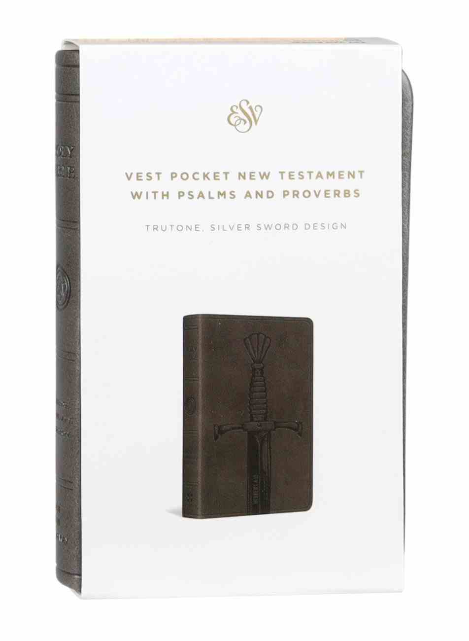 ESV Vest Pocket New Testament With Psalms and Proverbs Silver Sword (Black Letter Edition) Imitation Leather