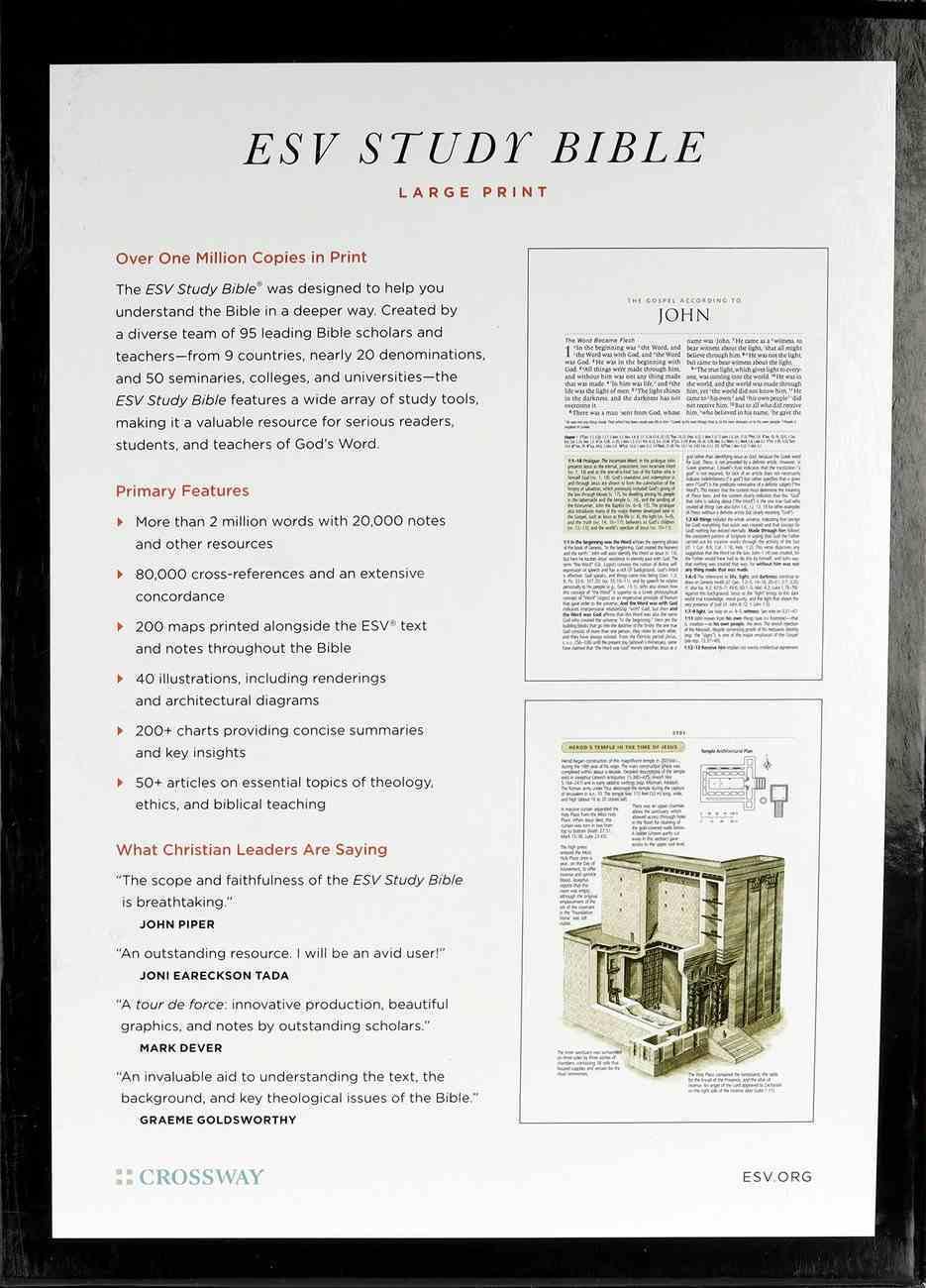 ESV Study Bible Large Print Mahogany Trellis Design Indexed (Black Letter Edition) Imitation Leather