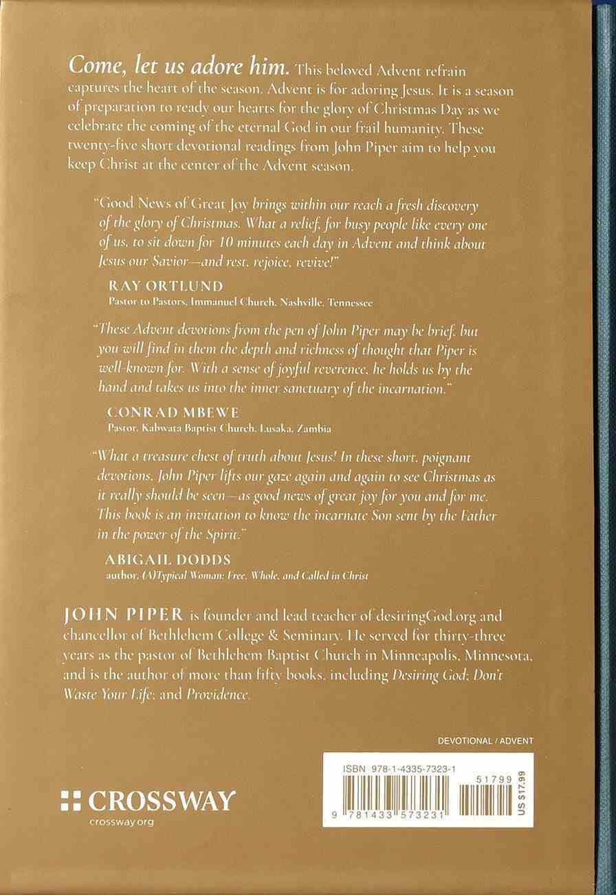 Good News of Great Joy: 25 Devotional Readings For Advent Hardback