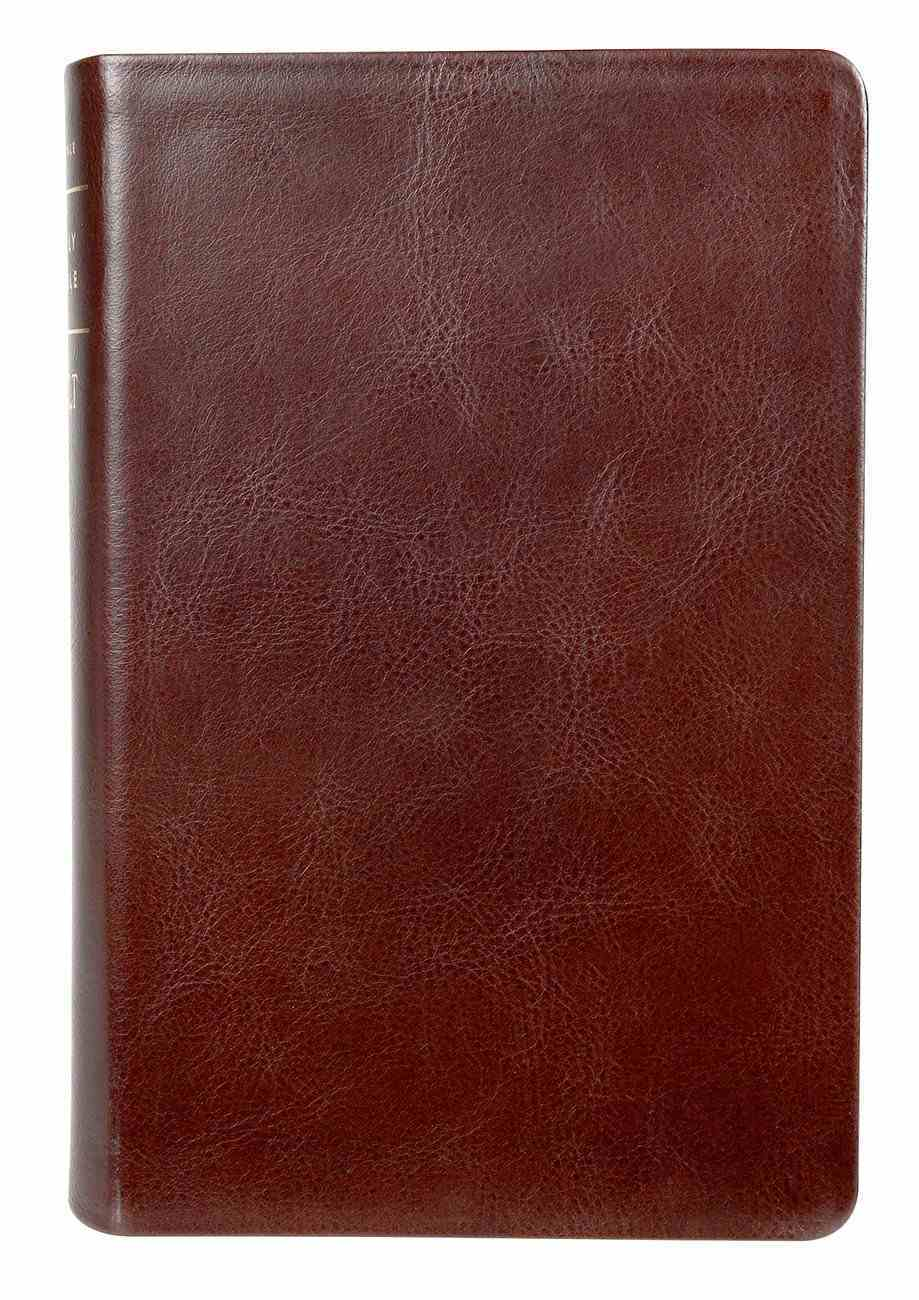 NLT Personal Size Giant Print Bible Filament Enabled Edition Brown (Red Letter Edition) Genuine Leather