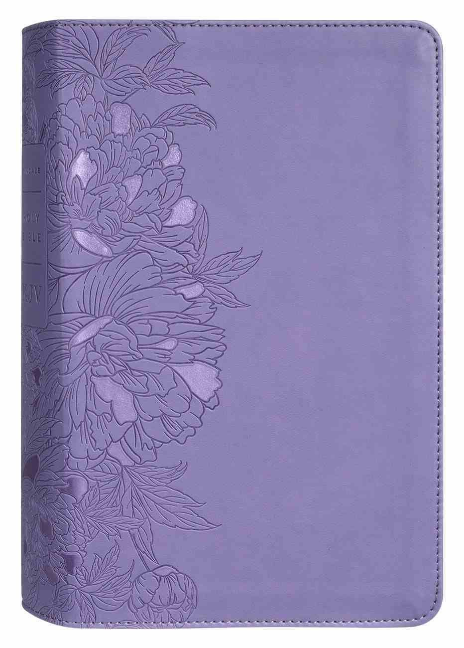 KJV Personal Size Giant Print Bible Filament Enabled Edition Peony Lavender (Red Letter Edition) Imitation Leather