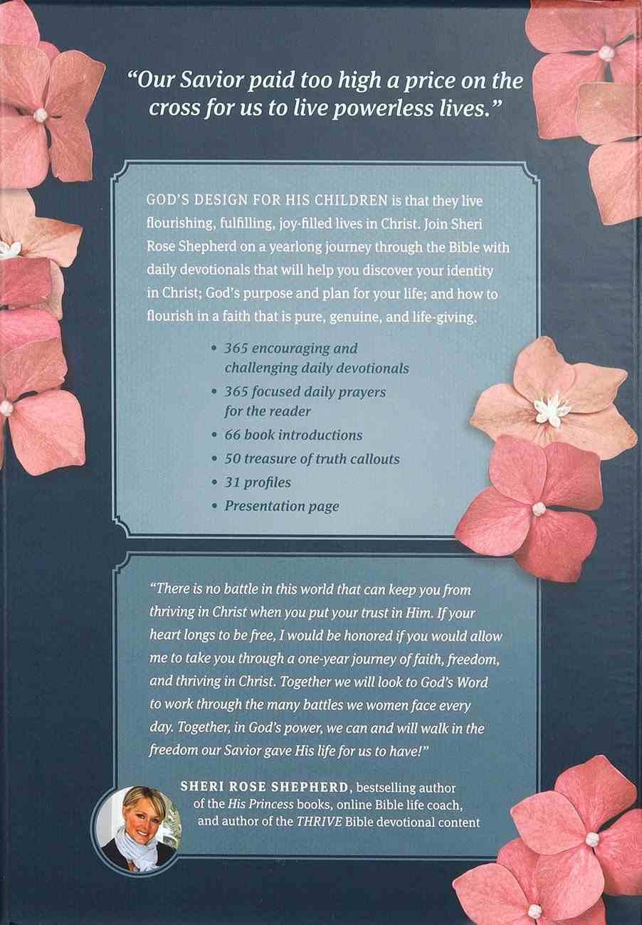 NLT Thrive Devotional Bible For Women Rose Metallic Imitation Leather