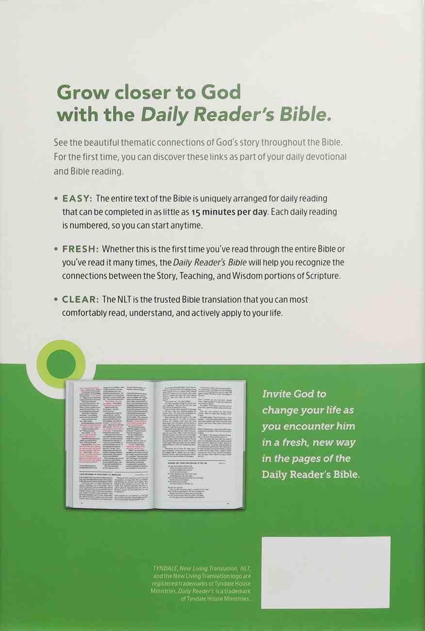 NLT Daily Reader's Bible (Red Letter Edition) Hardback