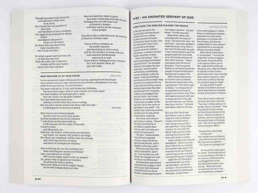 NLT Daily Reader's Bible (Red Letter Edition) Paperback