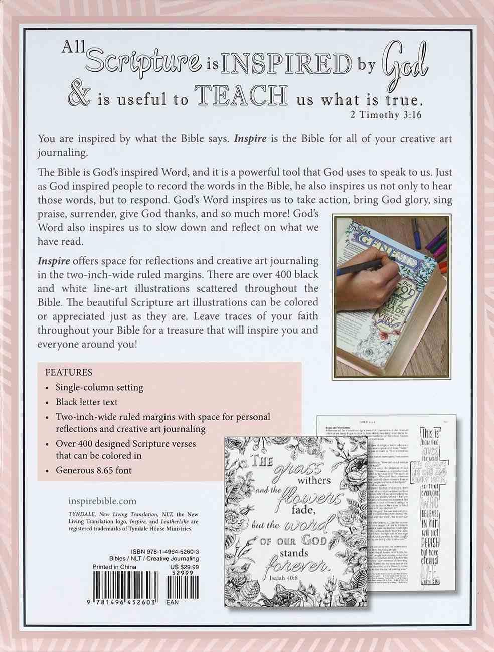 NLT Inspire Bible Pink Paperback