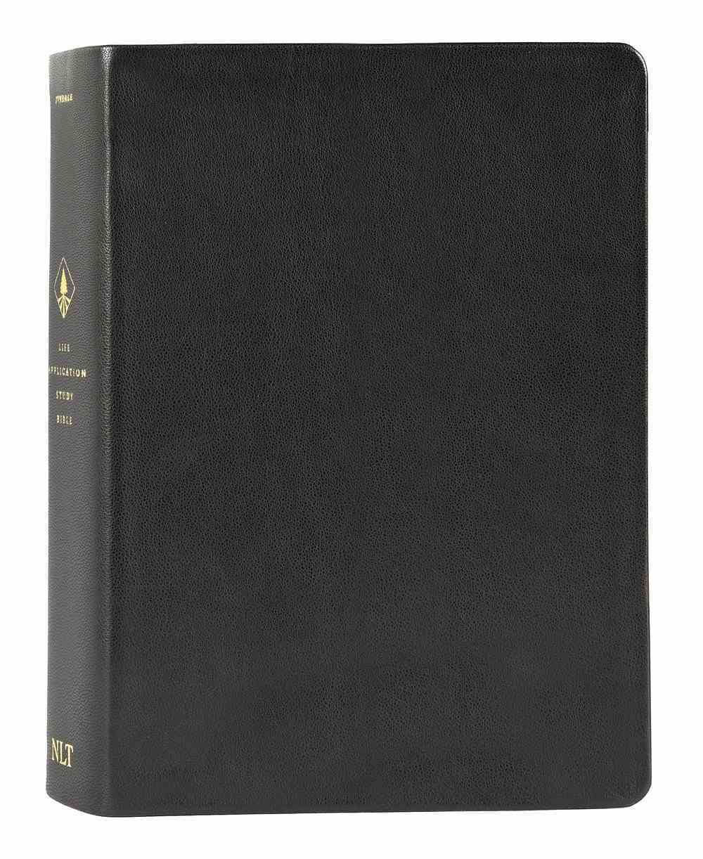 NLT Life Application Study Bible Black (Red Letter Edition) (3rd Edition) Genuine Leather