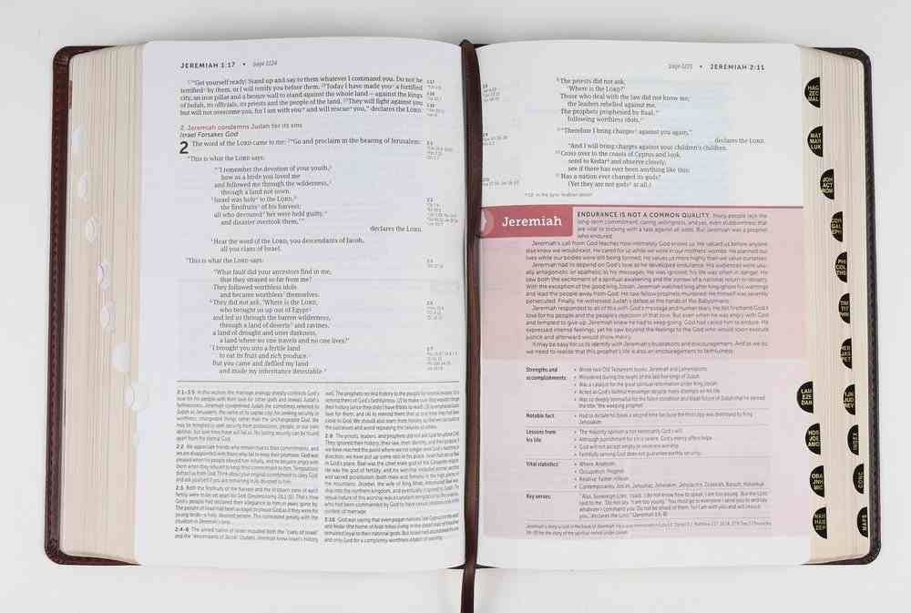 NIV Life Application Study Bible Brown/Mahogany Indexed (Red Letter Edition) (3rd Edition) Imitation Leather