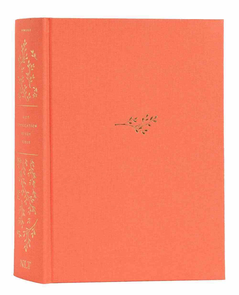 NLT Life Application Study Bible Coral Indexed (Red Letter Edition) (Red Letter Edition) (3rd Edition) Fabric Over Hardback