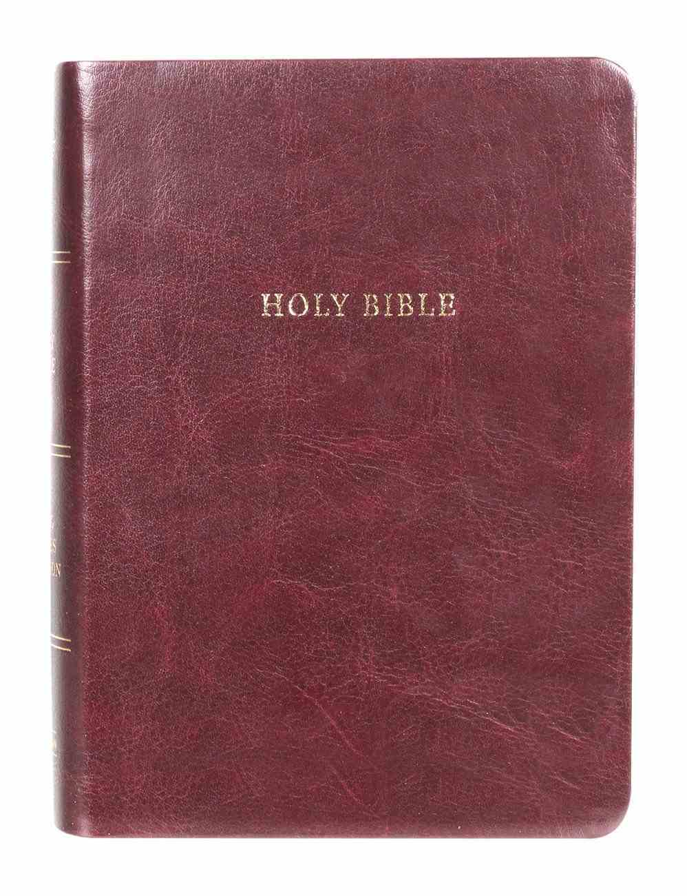 KJV Large Print Compact Reference Bible (Red Letter Edition) Imitation Leather