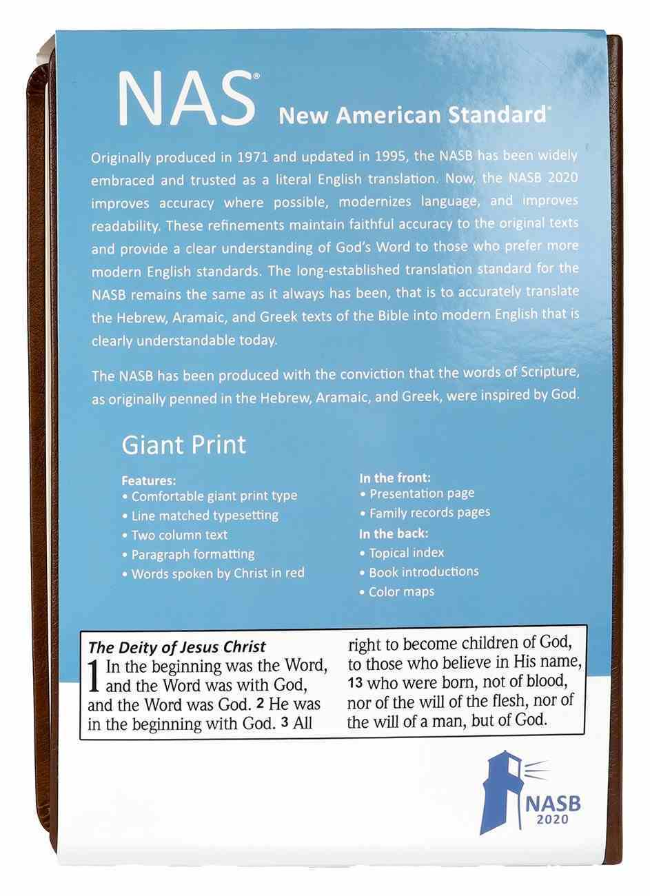 NASB 2020 Giant Print Bible Maroon Hardback