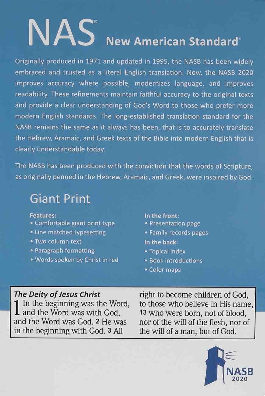 NASB 2020 Giant Print Bible Grey Indexed Imitation Leather