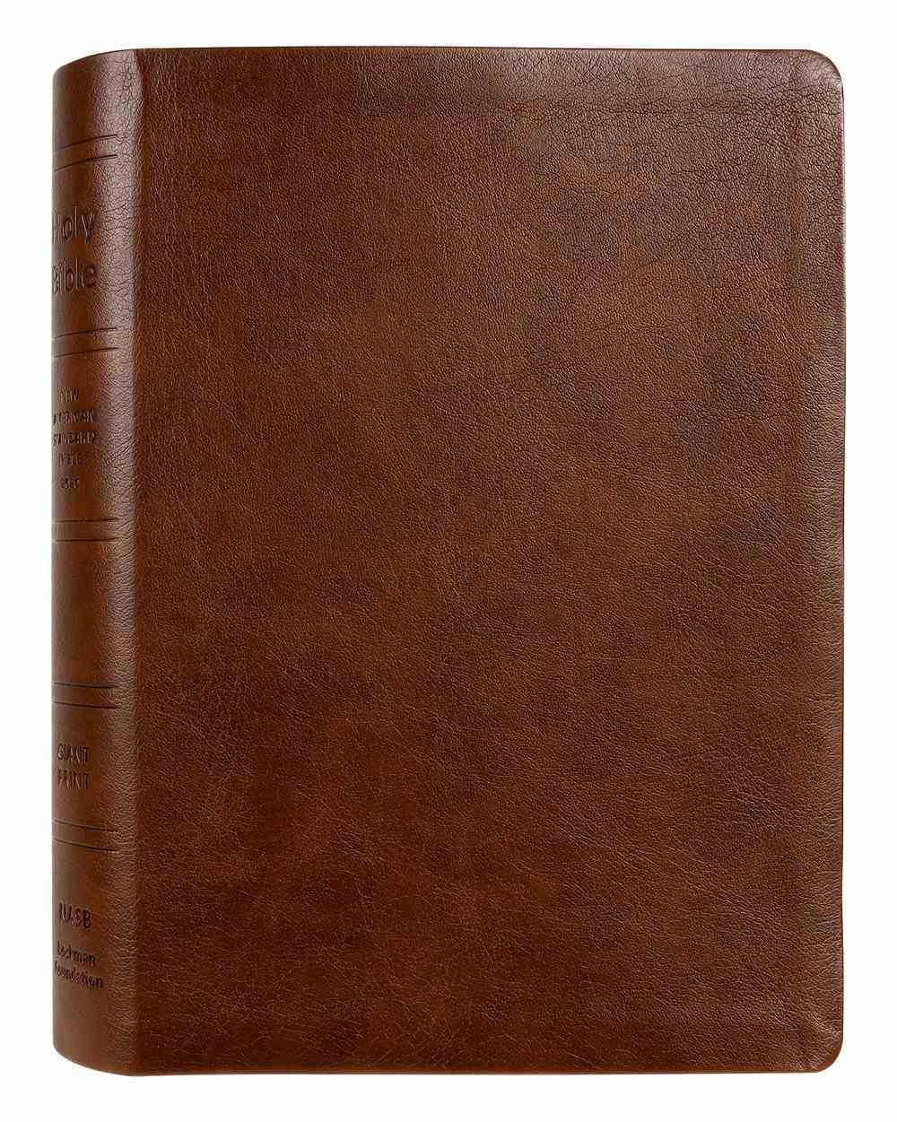 NASB 2020 Giant Print Bible Brown Indexed Imitation Leather