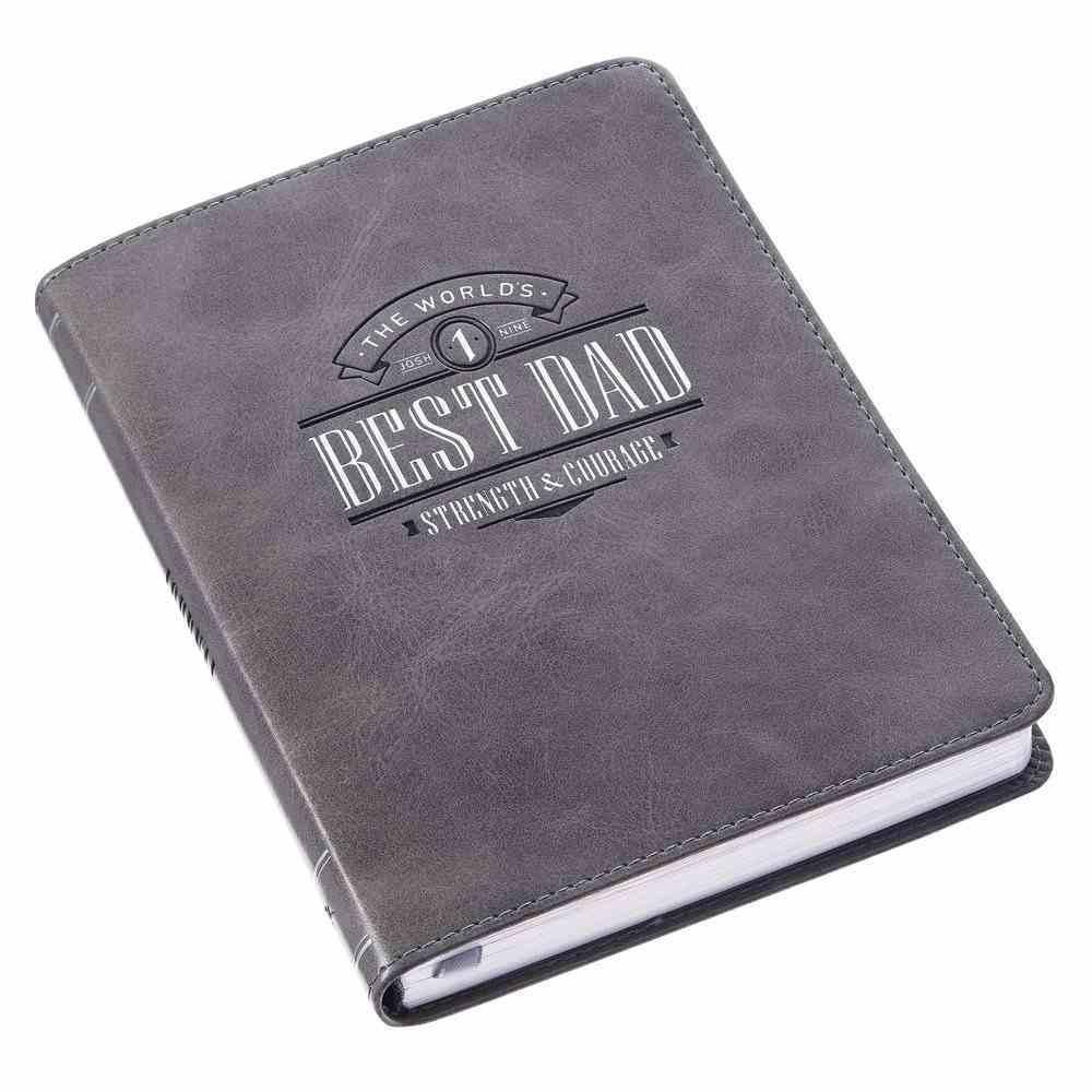 Journal: Best Dad Black (Joshua 1:9) Imitation Leather