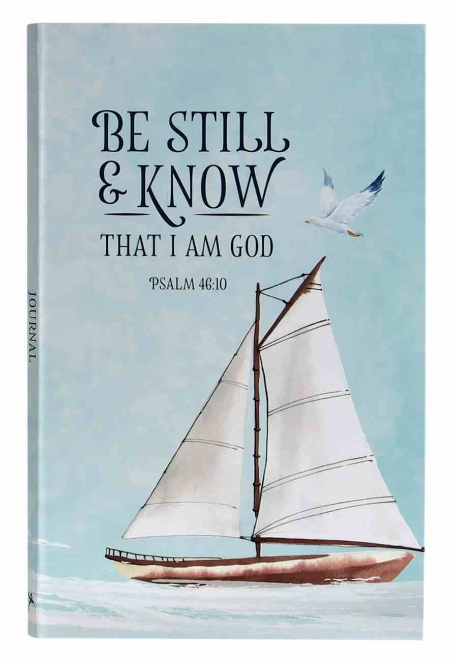 Journal: Be Still & Know Sailboat (Psalm 46:10) Flexi Back