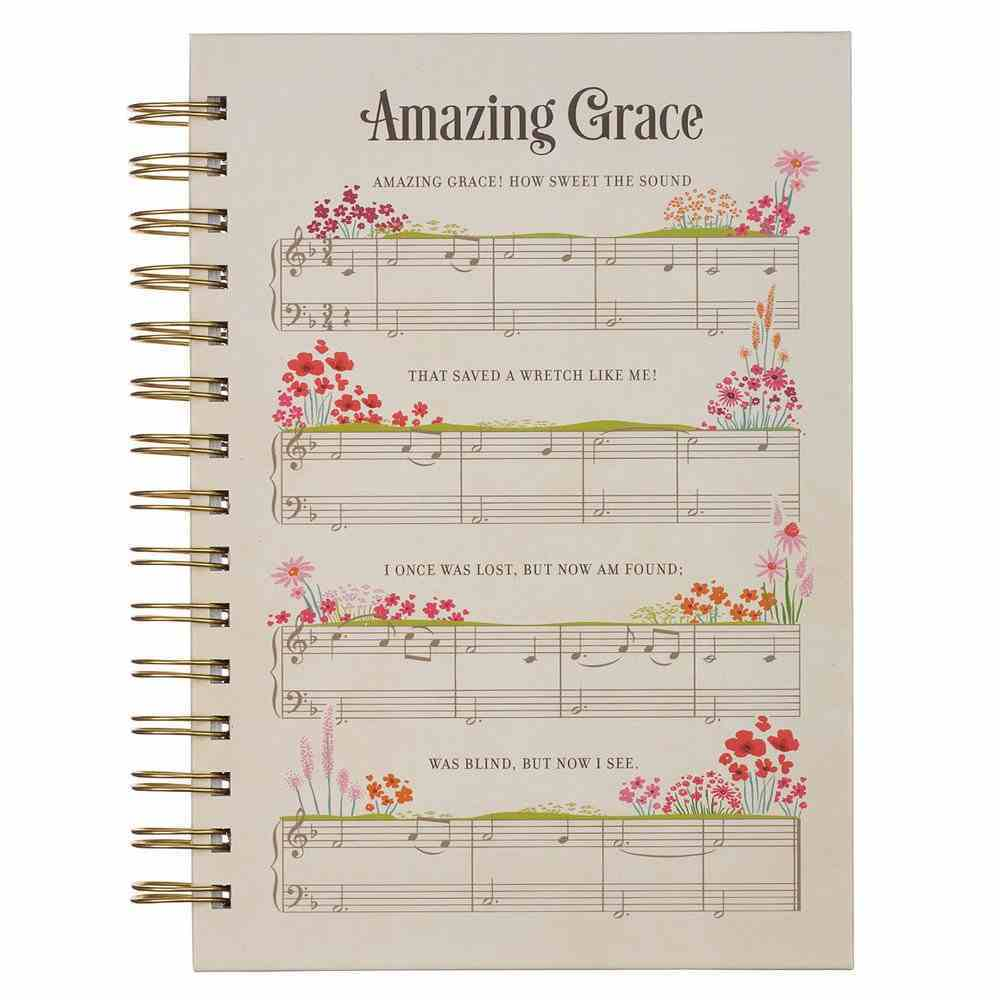 Journal: Amazing Grace, Music and Flowers Spiral