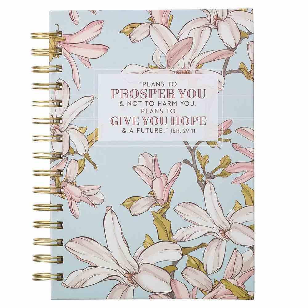Journal: Plans to Prosper You Blue (Jer 29:11) Spiral