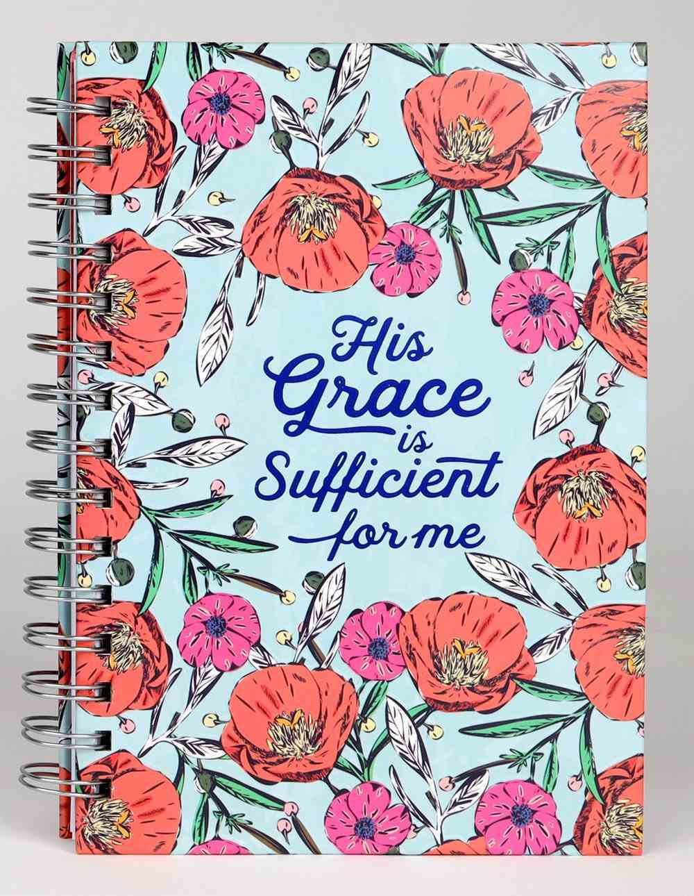 Journal: His Grace is Sufficient Poppies (2 Cor. 12:9) Spiral