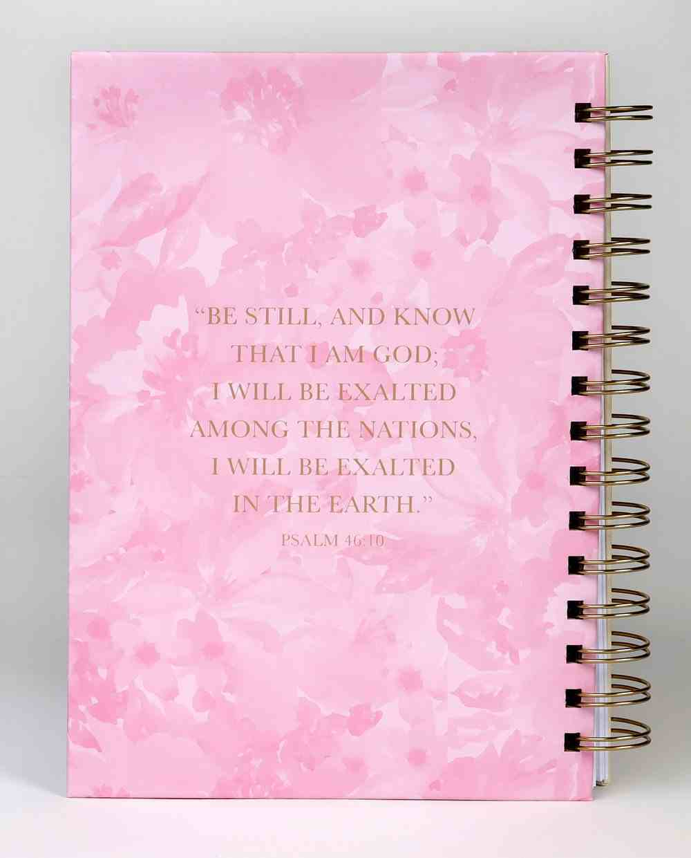 Journal: Be Still and Know Cream/Floral (Psalm 46:10) Spiral