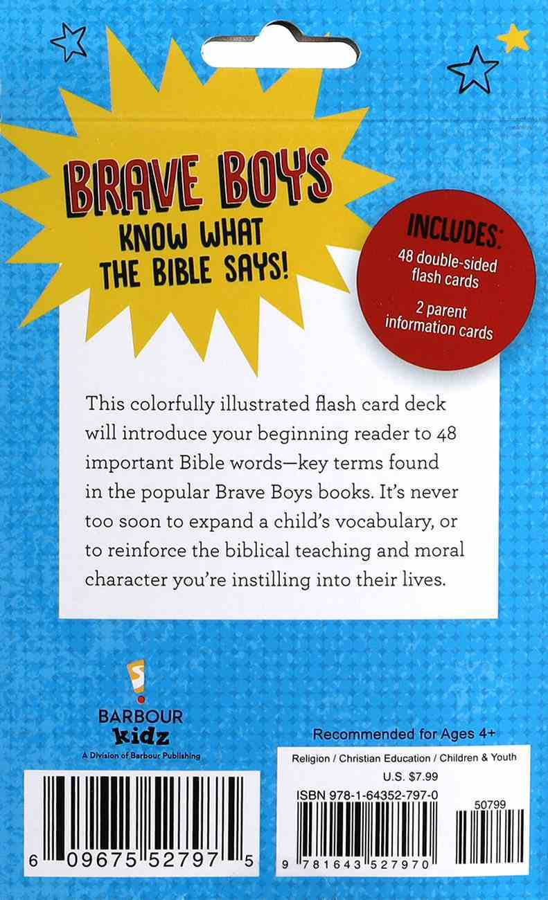 Brave Boys Bible Words Flash Cards Cards