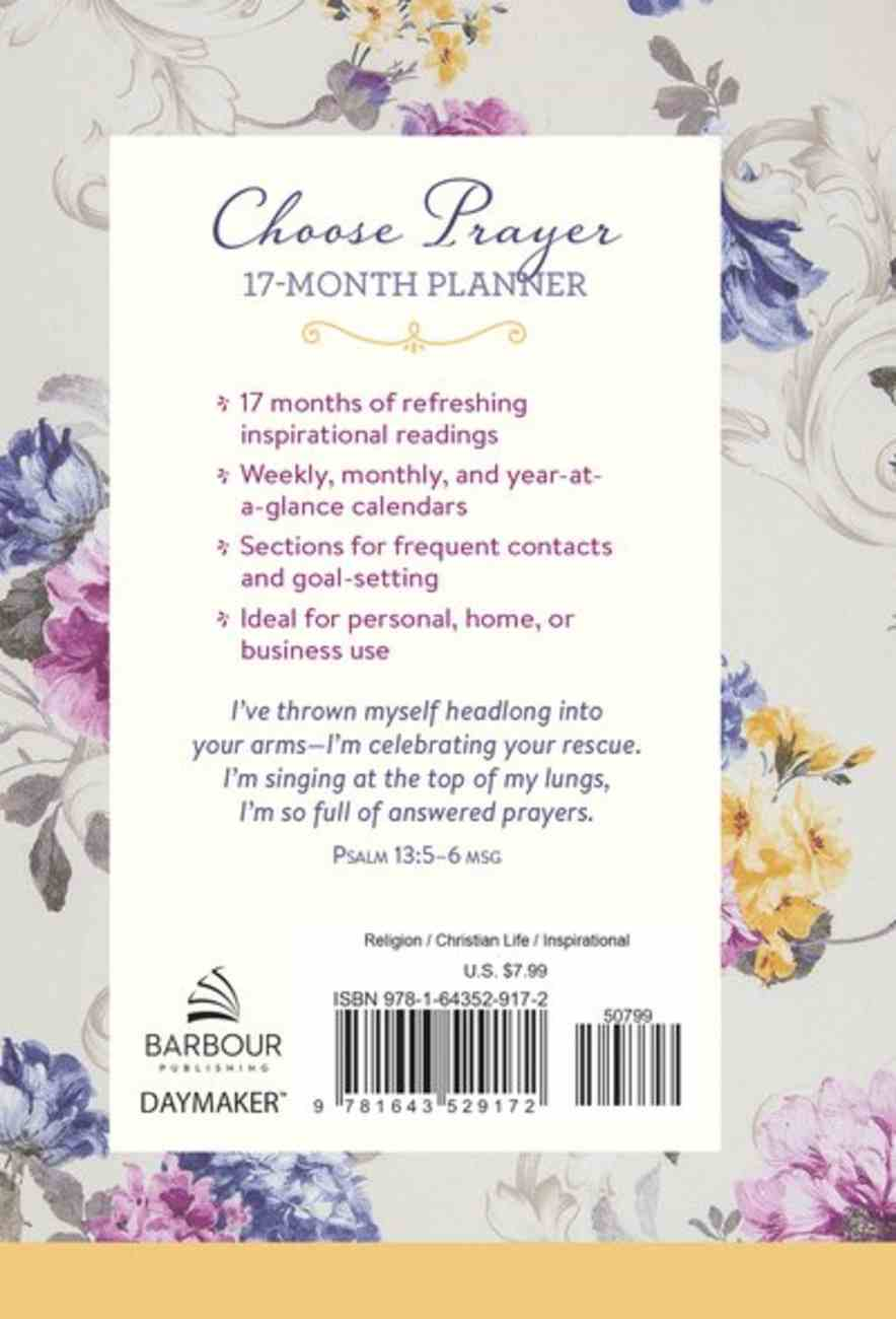 2021-2022 17-Month Diary/Planner: Choose Prayer Spiral