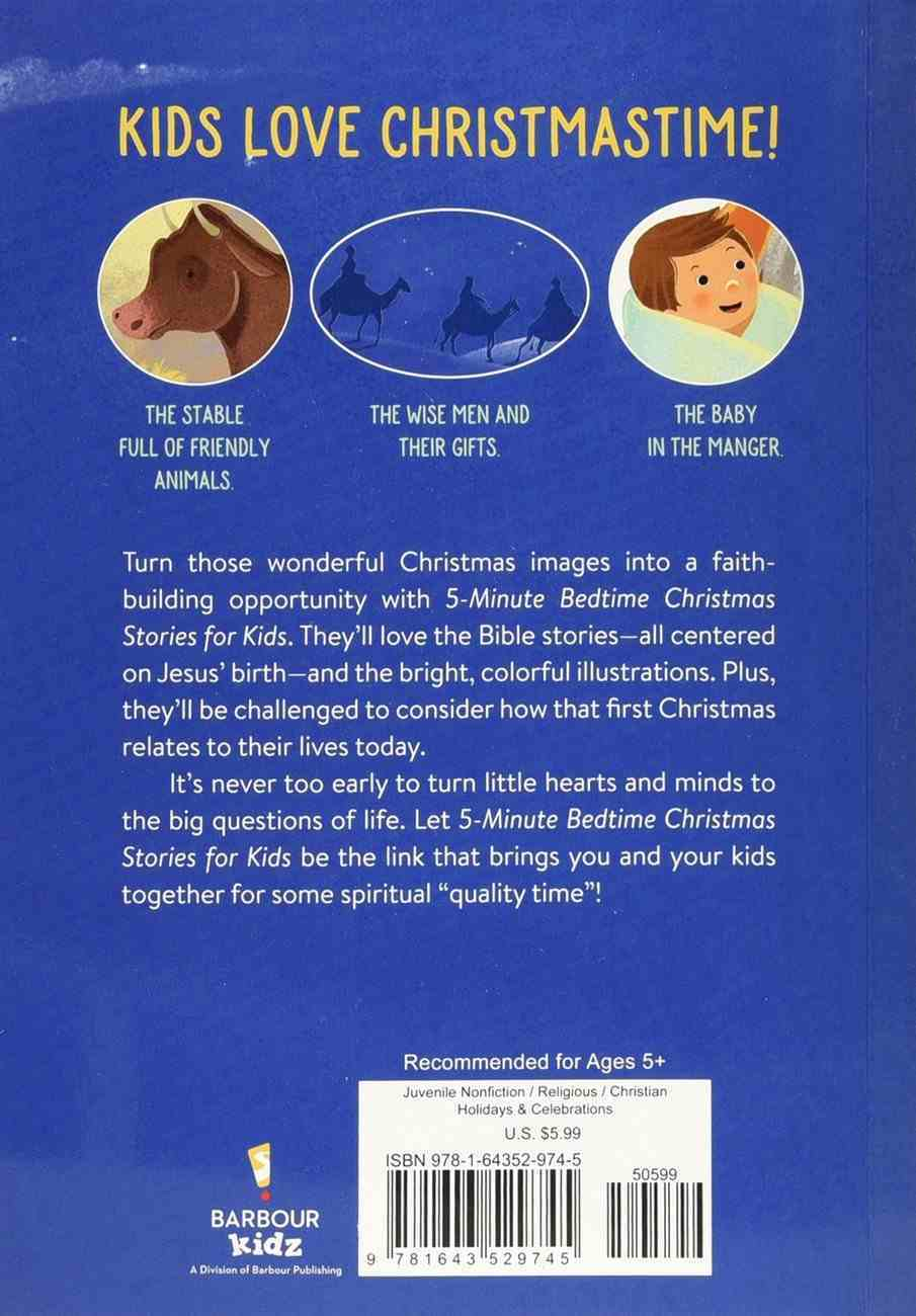 5-Minute Bedtime Christmas Stories For Kids Paperback