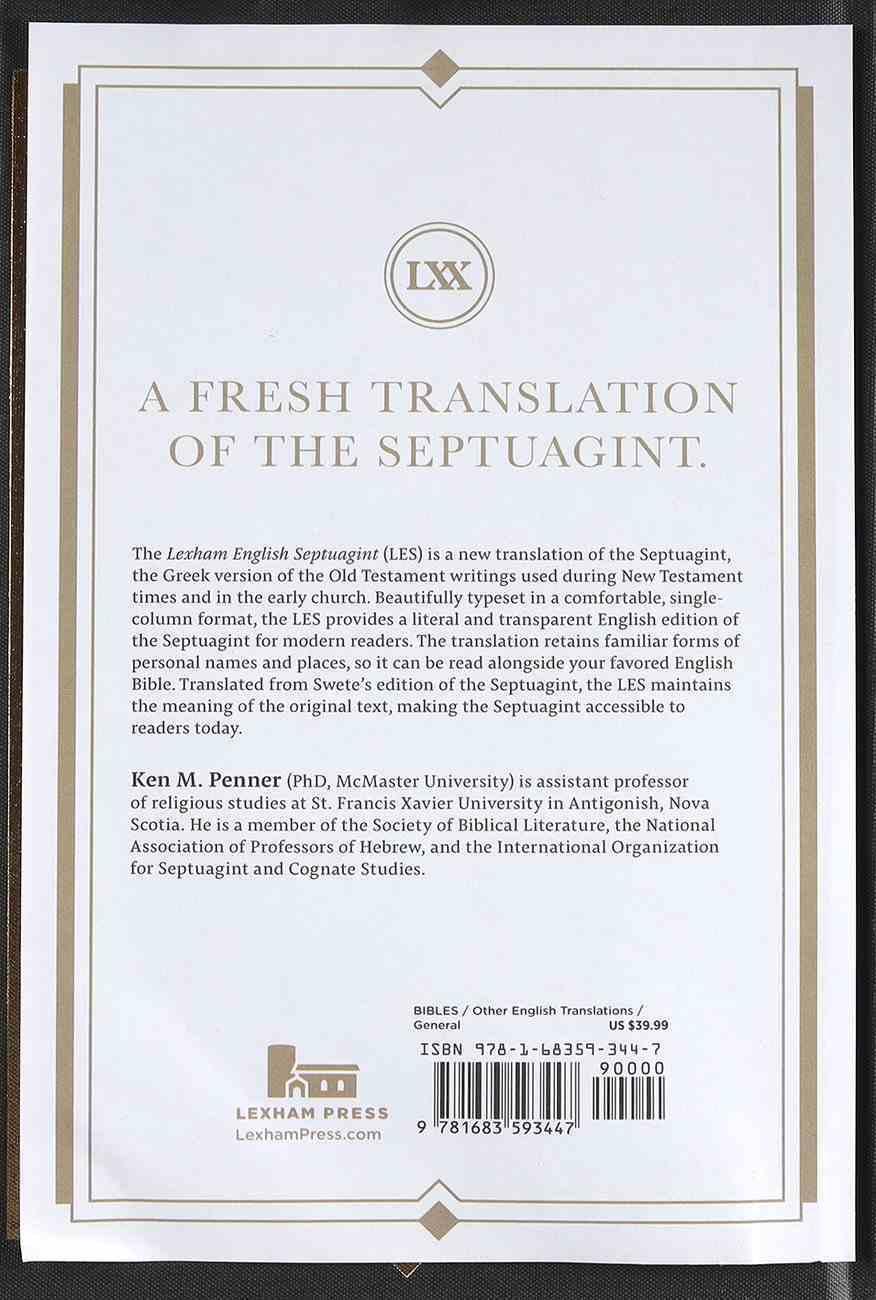 Lexham English Septuagint: A New Translation Hardback