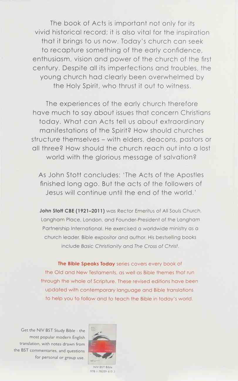 Message of Acts, The: To the Ends of the Earth (2020) (Bible Speaks Today Series) Paperback