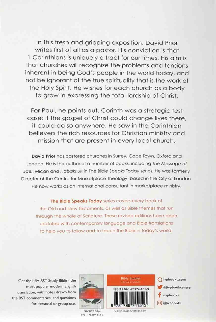 The Message of 1 Corinthians (2020) (Bible Speaks Today Series) Paperback
