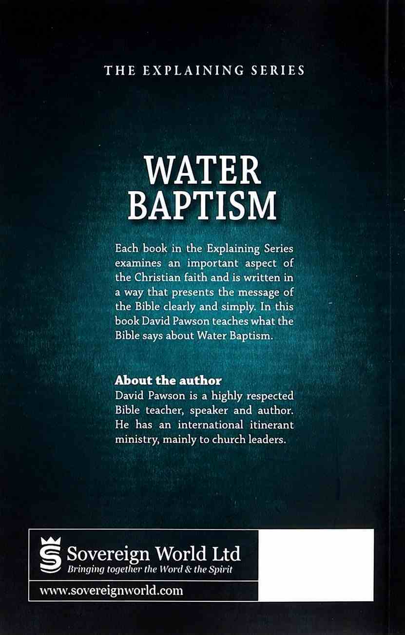 Water Baptism (Explaining Series) Paperback