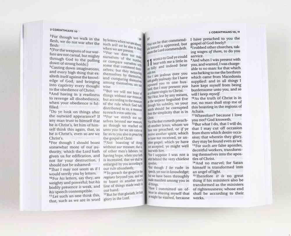 KJV Pocket New Testament and Psalms Red Vinyl (Black Letter Edition) Paperback