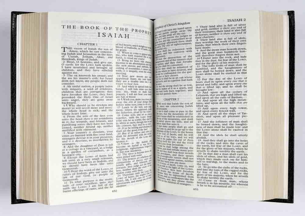 KJV Royal Ruby Holy Bible Text Presentation Black (Black Letter Edition) Hardback
