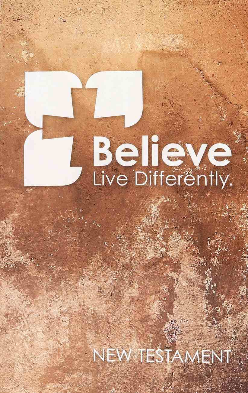 NIV Popular Paperback New Testament Believe Sand Paperback