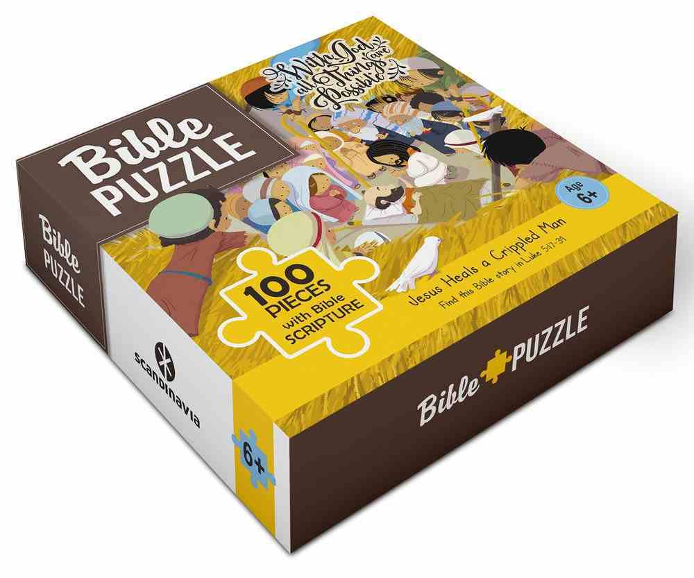 Bible Jigsaw Puzzle: Jesus Heals a Lame Man (100 Pieces) Game