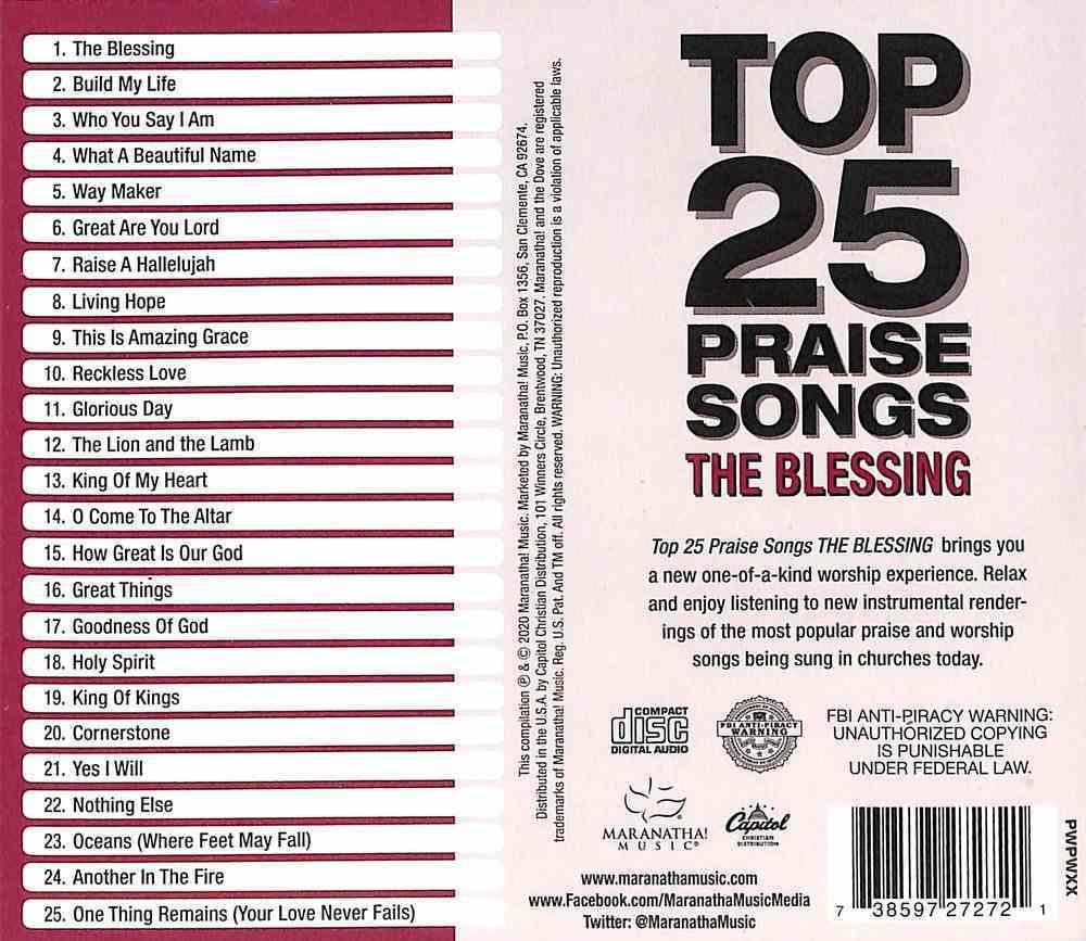 Top 25 Praise Songs: The Blessing CD
