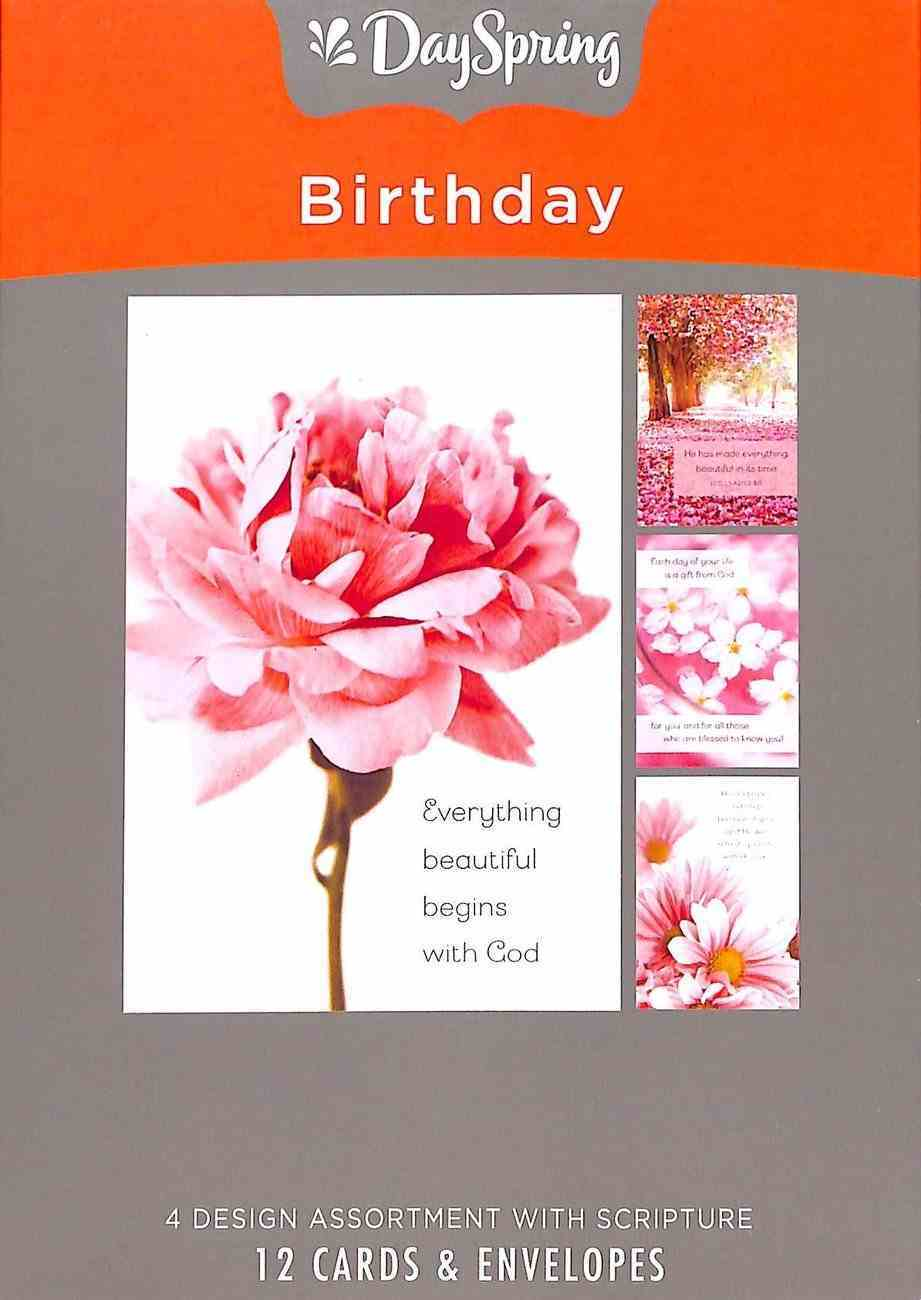 Boxed Cards Birthday: Pretty Pinks Box