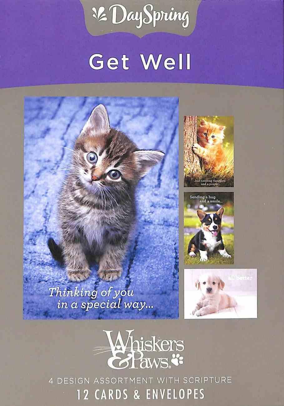 Boxed Cards Get Well: Whisker & Paws (Kjv) Box