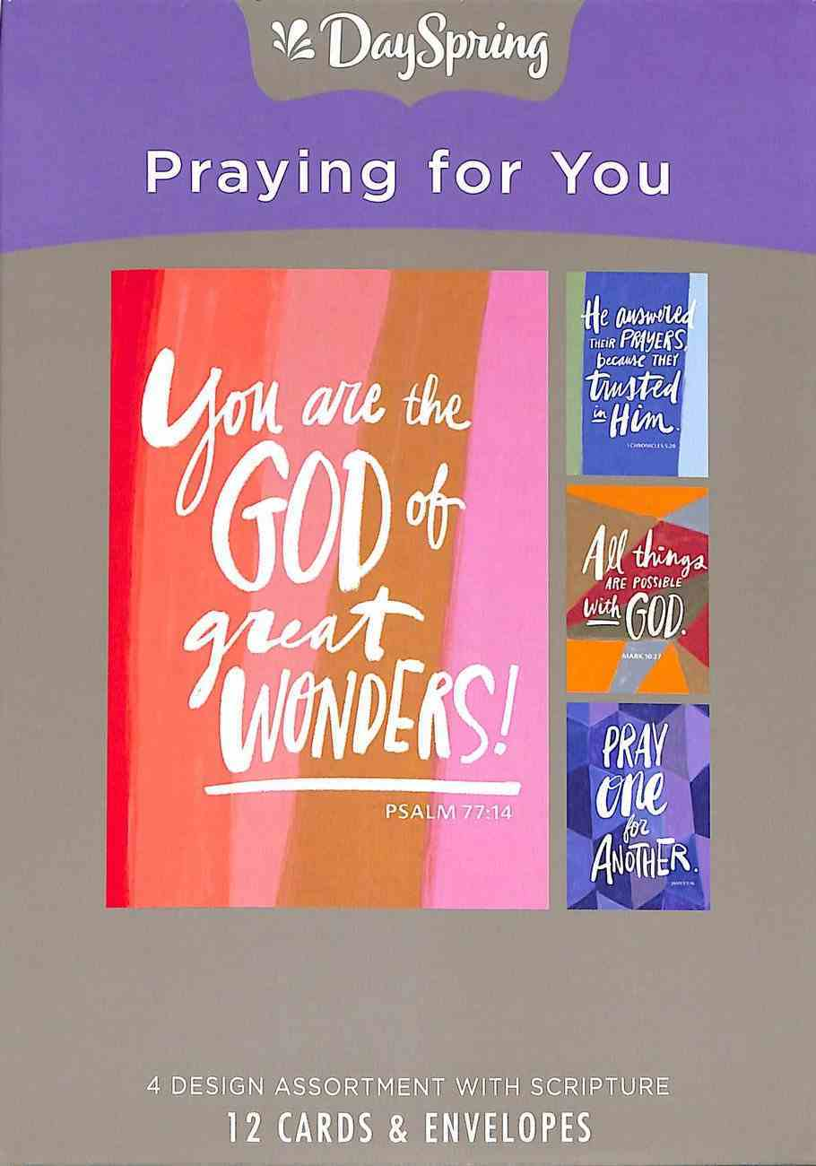 Boxed Cards Praying For You: Scriptures Box