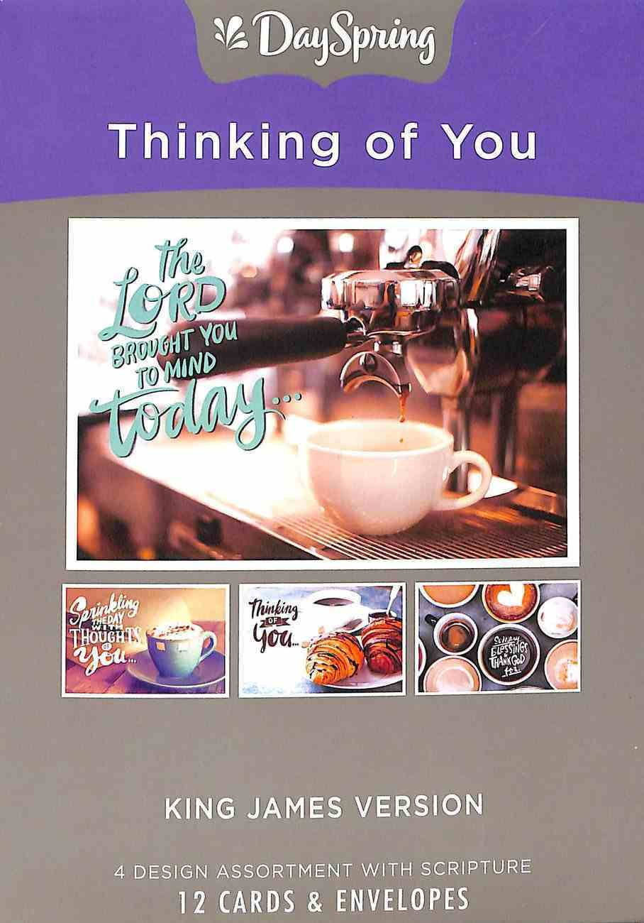 Boxed Cards Thinking of You: Coffee House (Kjv) Box
