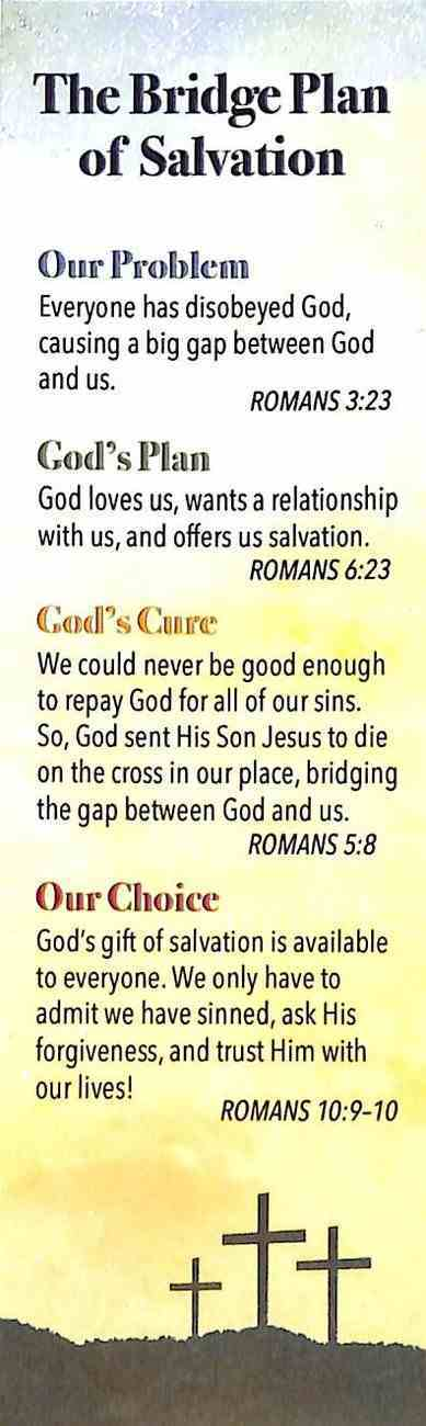 Bookmark: Plan of Salvation (Romans 10:13) (25 Pack) Stationery