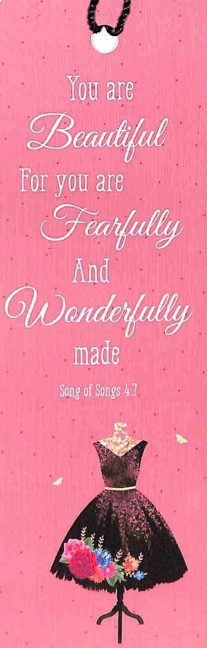 Bookmark With Tassel: You Are Beautiful For You Are Fearfully and Wonderfully Made Stationery