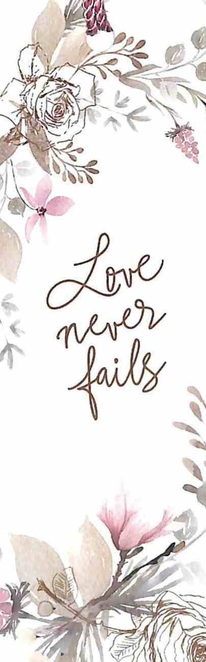 Bookmark With Tassel: Love Never Fails Stationery