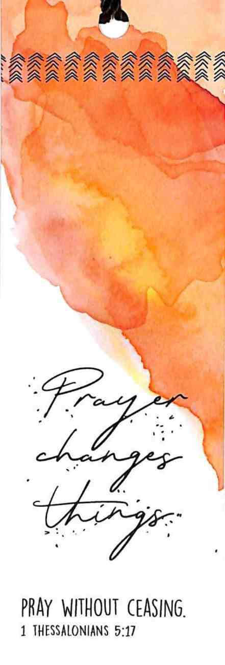 Bookmark With Tassel: Prayer Changes Things Stationery
