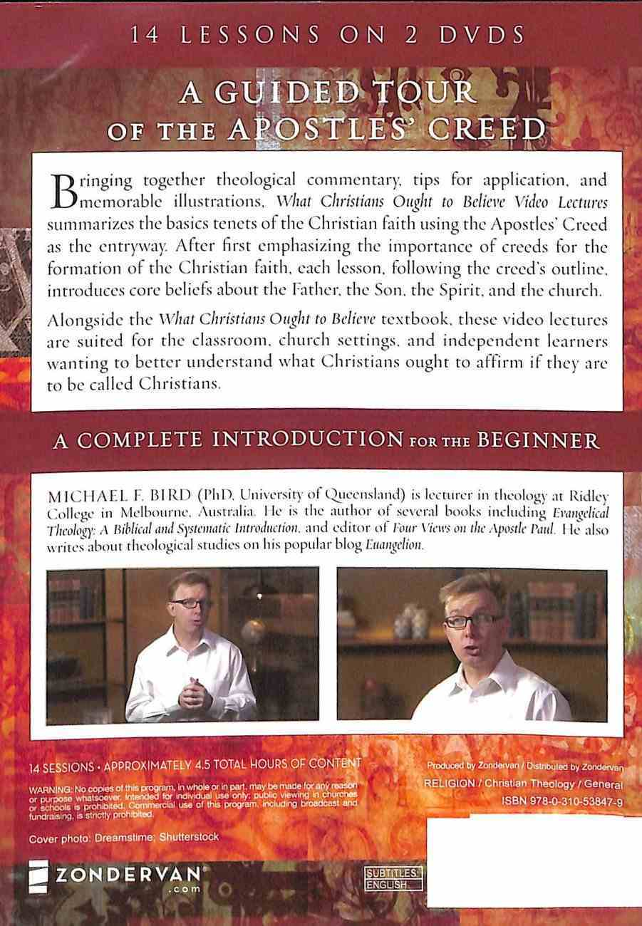 What Christians Ought to Believe: An Introduction to Christian Doctrine Through Th (Video Lectures) DVD